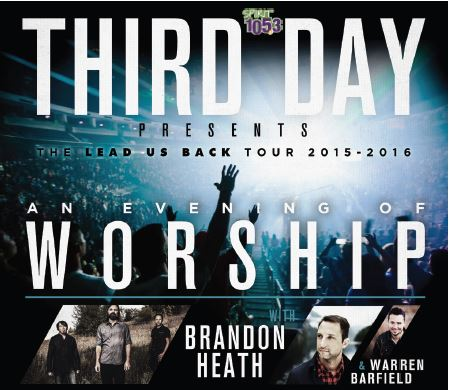 JOIN THIRD DAY FOR AN EVENING OF WORSHIP ON THEIR 'LEAD US BACK TOUR' THIS FALL