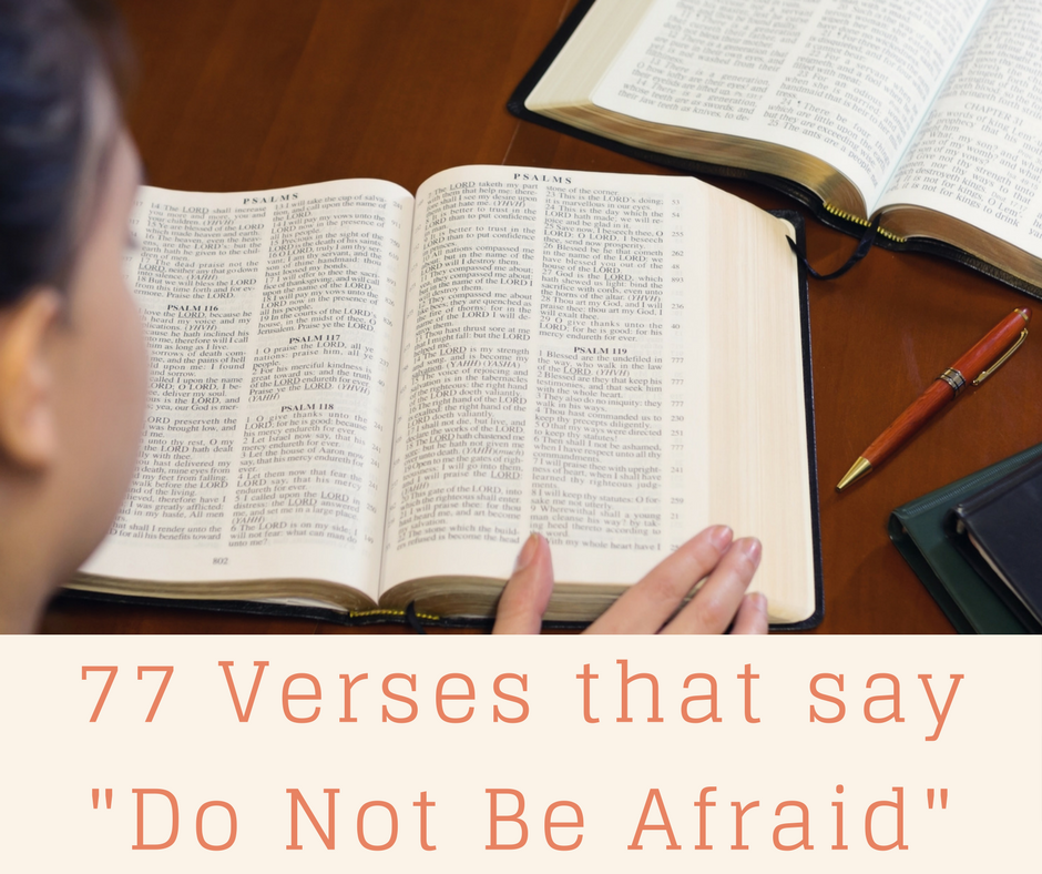 "77 Verses That Say ""Do Not Be Afraid"""