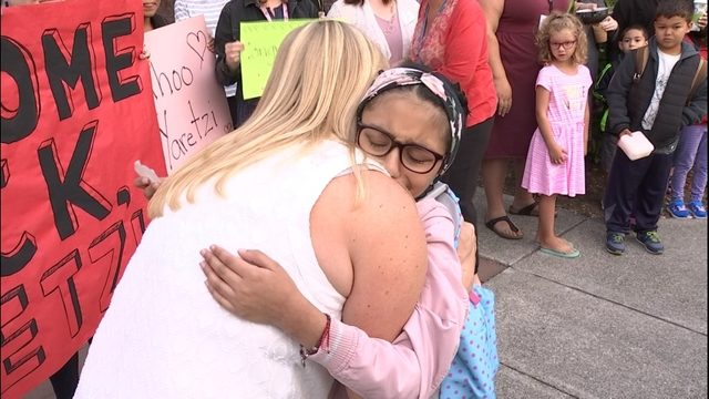 Special school day for 9-year-old who had been hit in crosswalk months ago