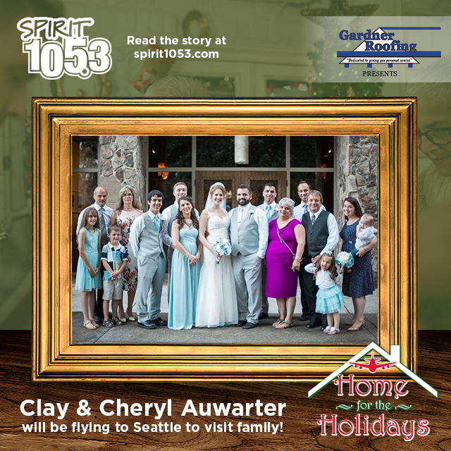 SPIRIT 105.3 Sends Clay and Cheryl Home for the Holidays