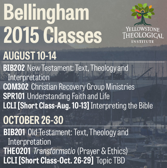 Classes in Bellingham - August 10-14, 2015