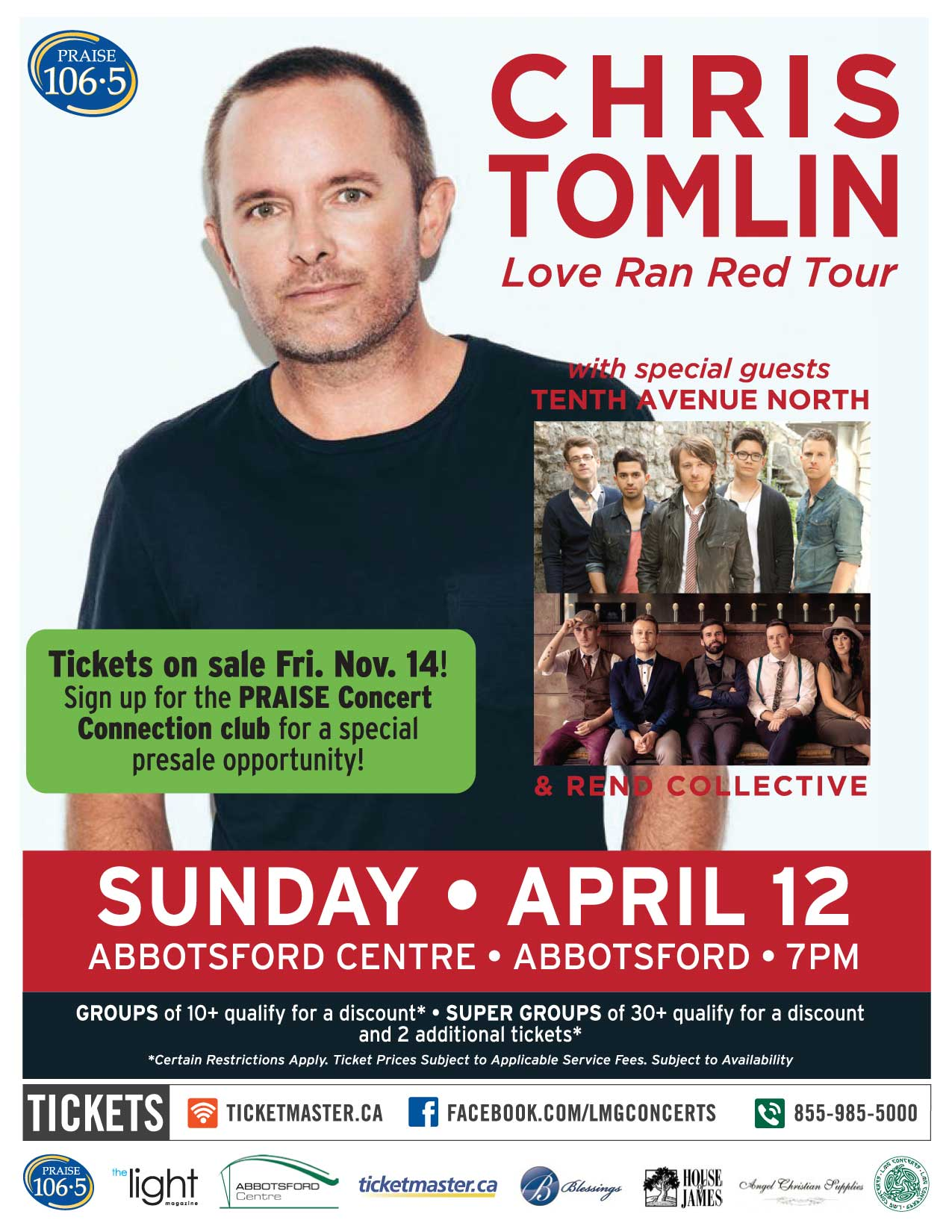 Chris Tomlin Makes His First Ever Tour Stop In BC with the 'Love Ran Red' Tour!