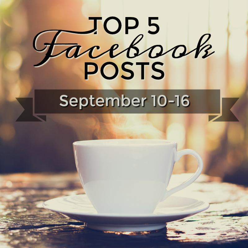 Facebook Top 5 (09/10-09/16)