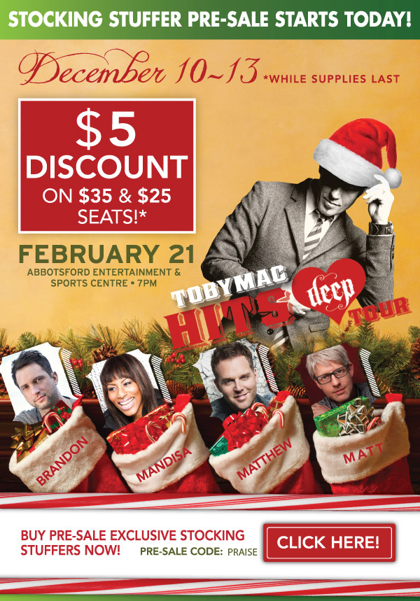 Merry Christmas! A special TobyMac Stocking Stuffer for YOU!