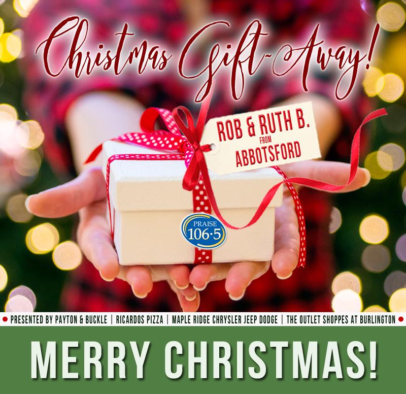 Christmas Gift Away Recipient: Rob & Ruth B!