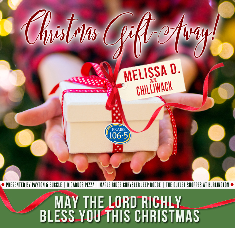 Christmas Gift Away Recipient #8: Melissa D!