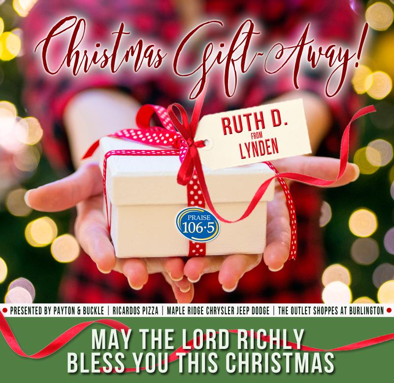 Christmas Gift Away Recipient #9: Ruth D!