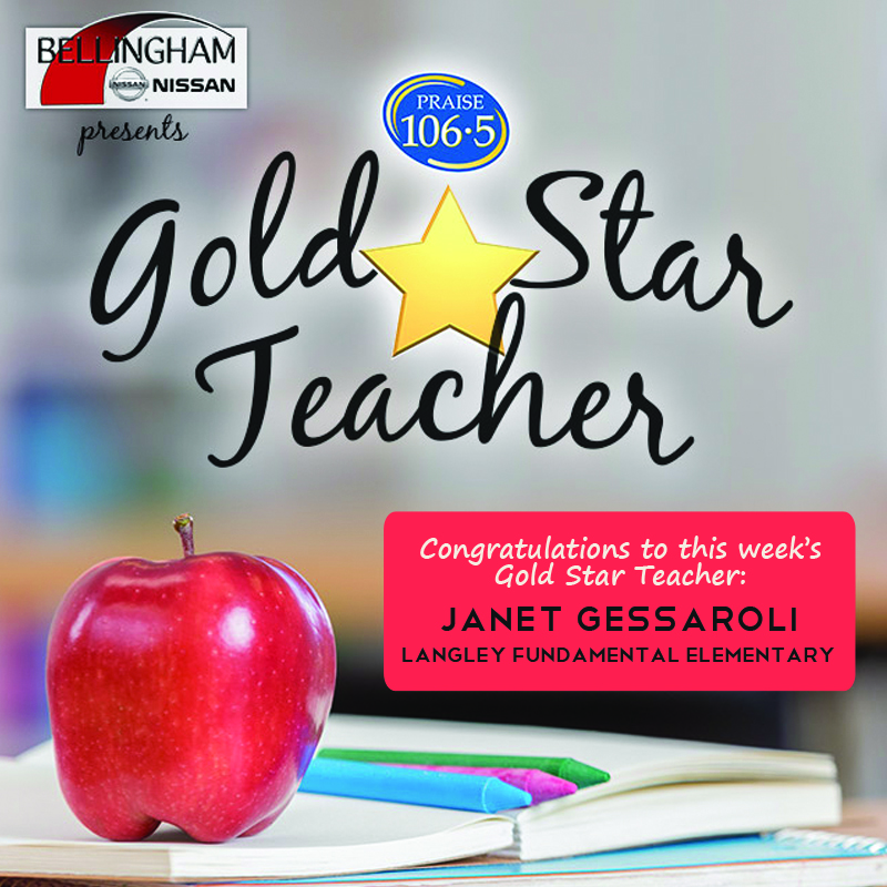 Gold Star Teacher - Janet Gessaroli