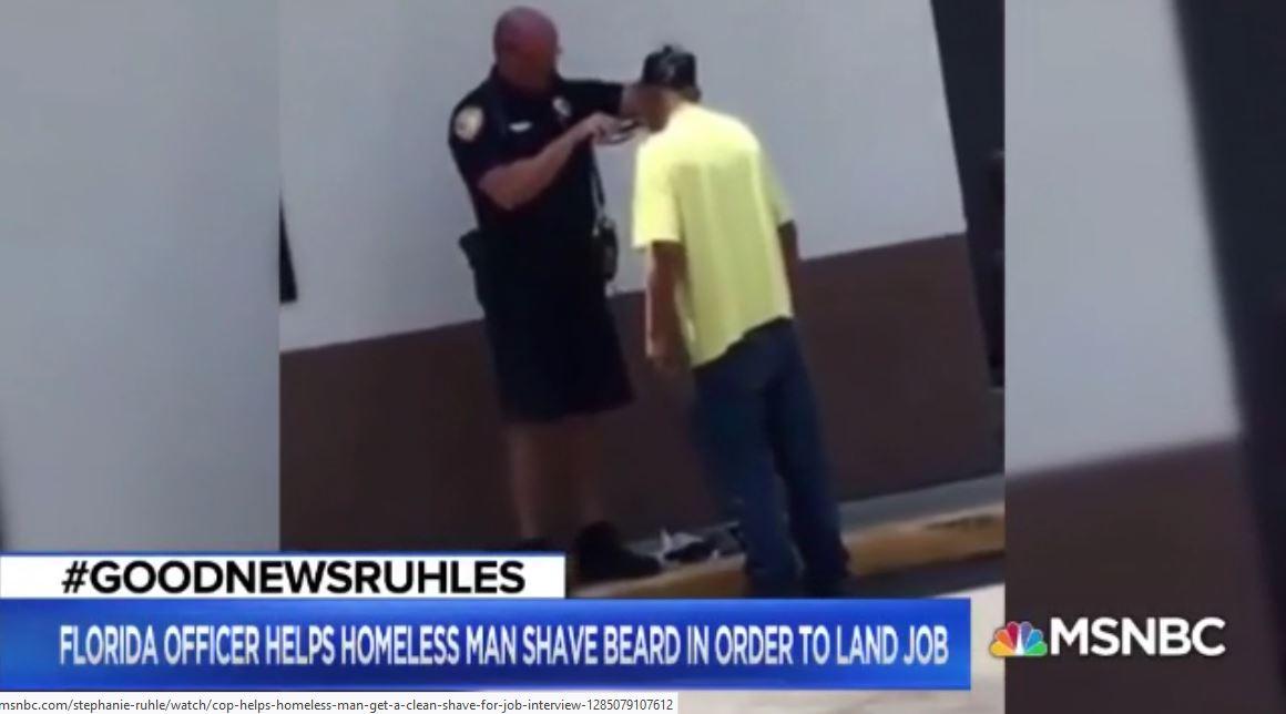 Jim & Lynette Highlight: Cop Shaves Homeless Man
