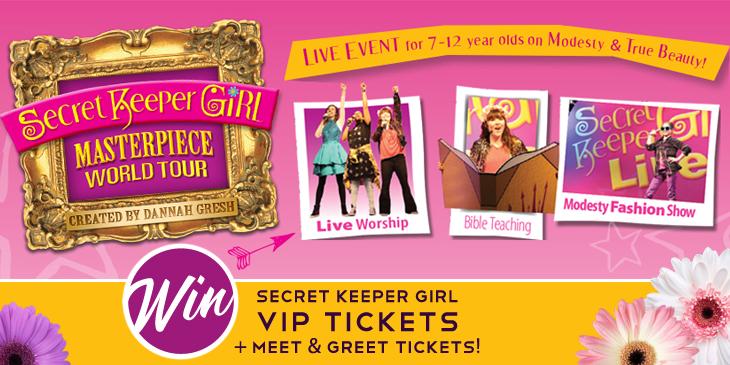 Win 4 VIP Ticket to Secret Keeper Girl!