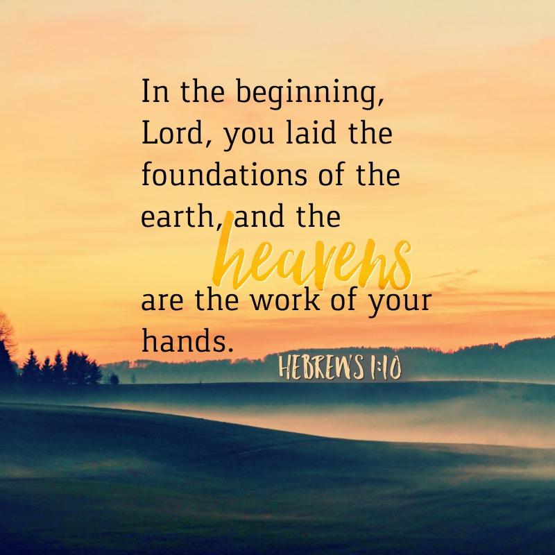 Hebrews 1:10