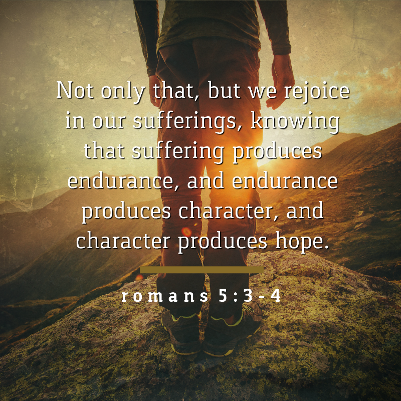 Image result for romans 5 3-4
