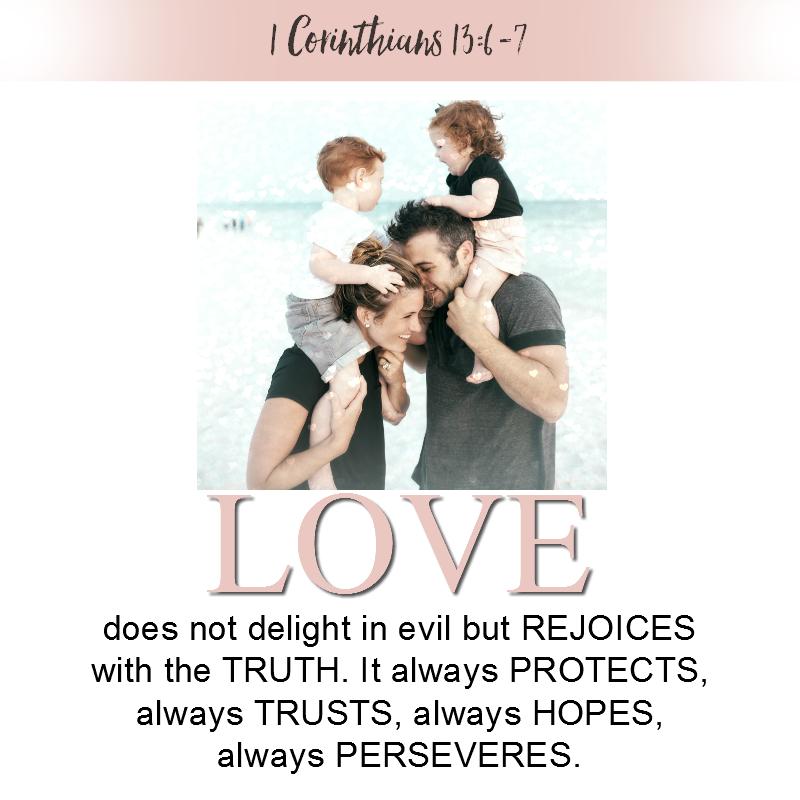 1 Corinthians 13:6-7
