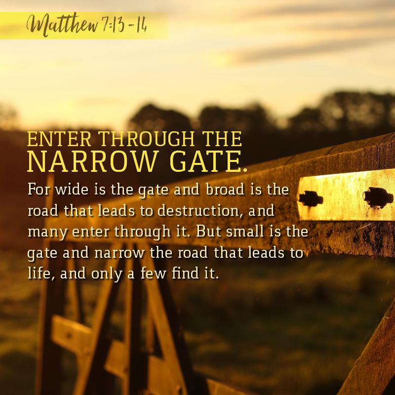 Matthew 7:13-14 | KCIS 630