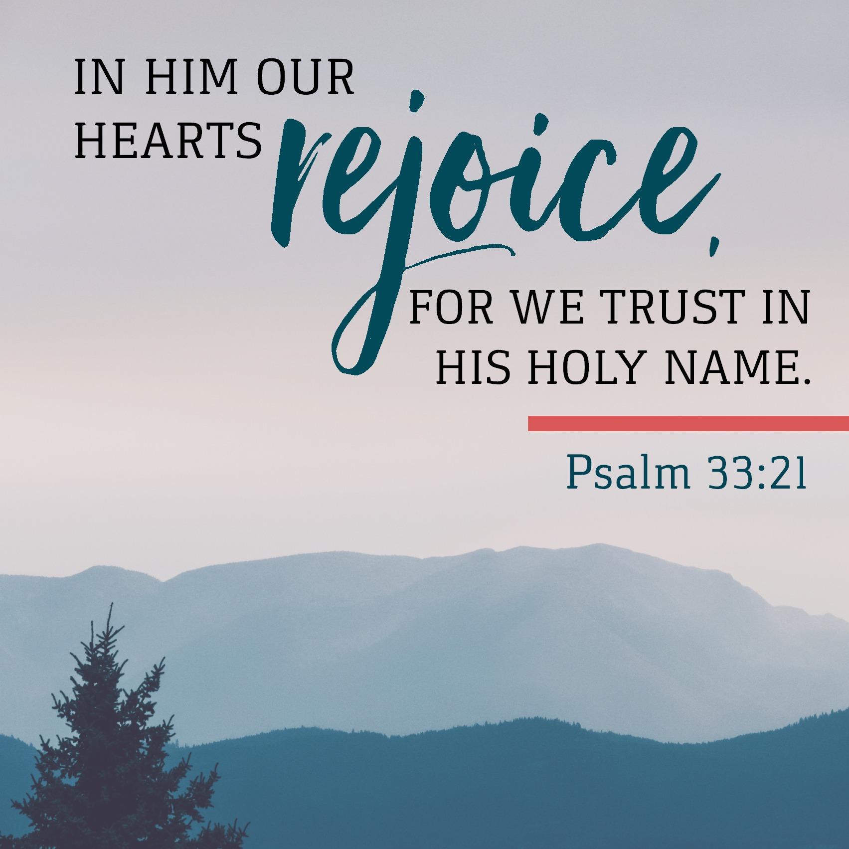 Psalm 33:21