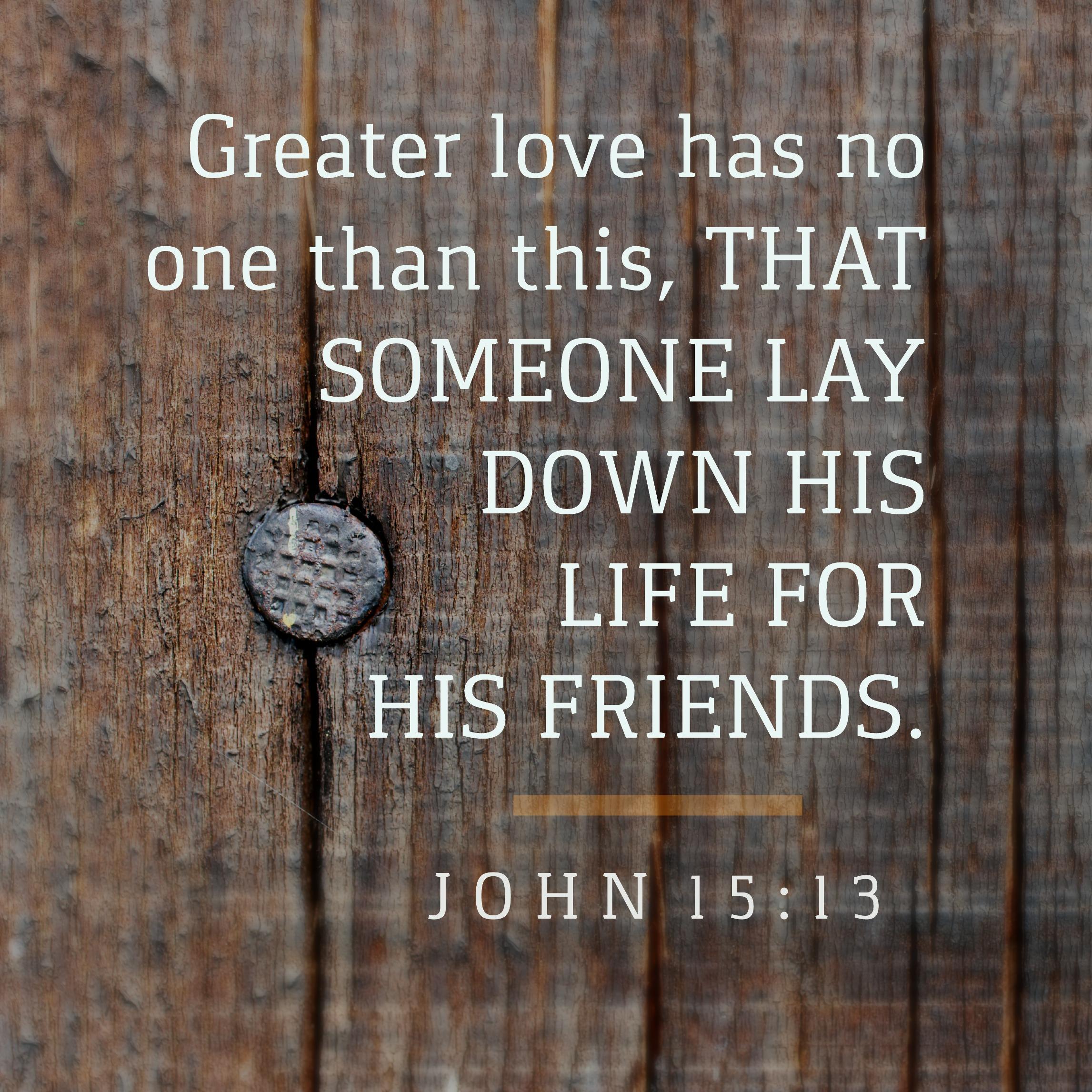 John 15: 13