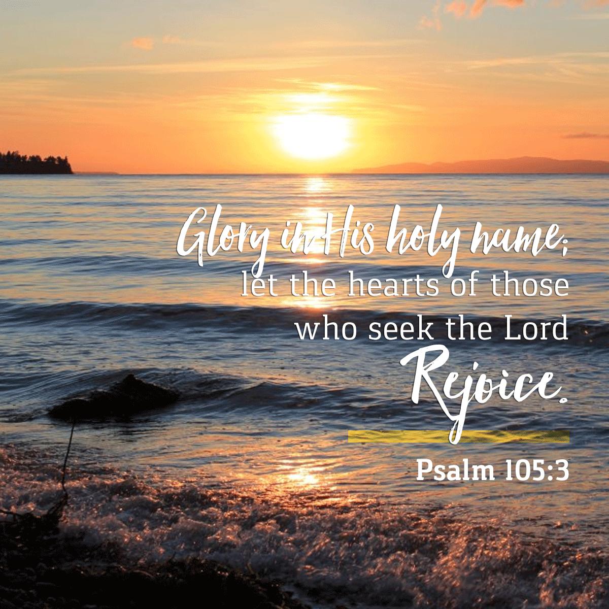 Psalm 105:3