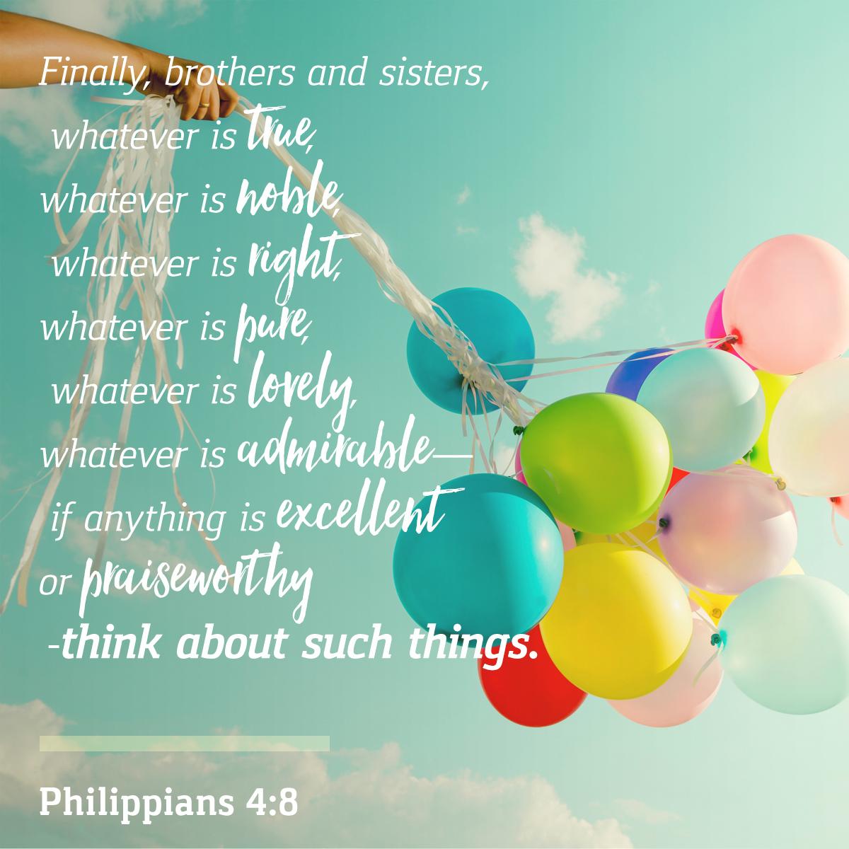 Philippians 4:8 - Daily Verse