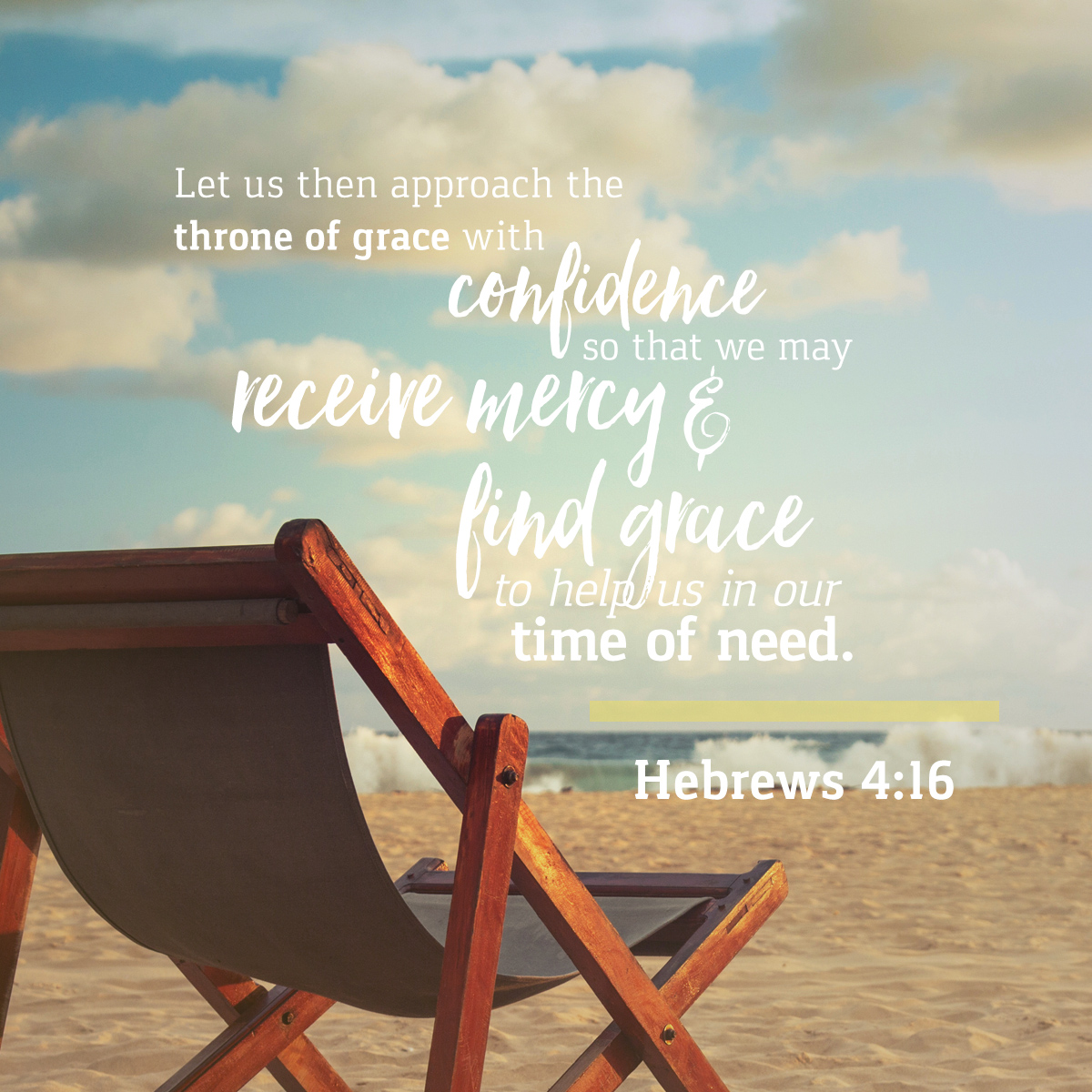 Hebrews 4:16 - Daily Verse