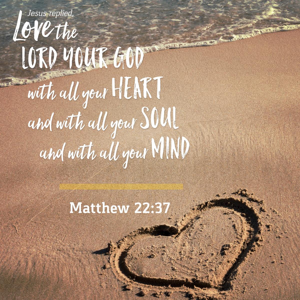 Matthew 22:37 - Daily Verse