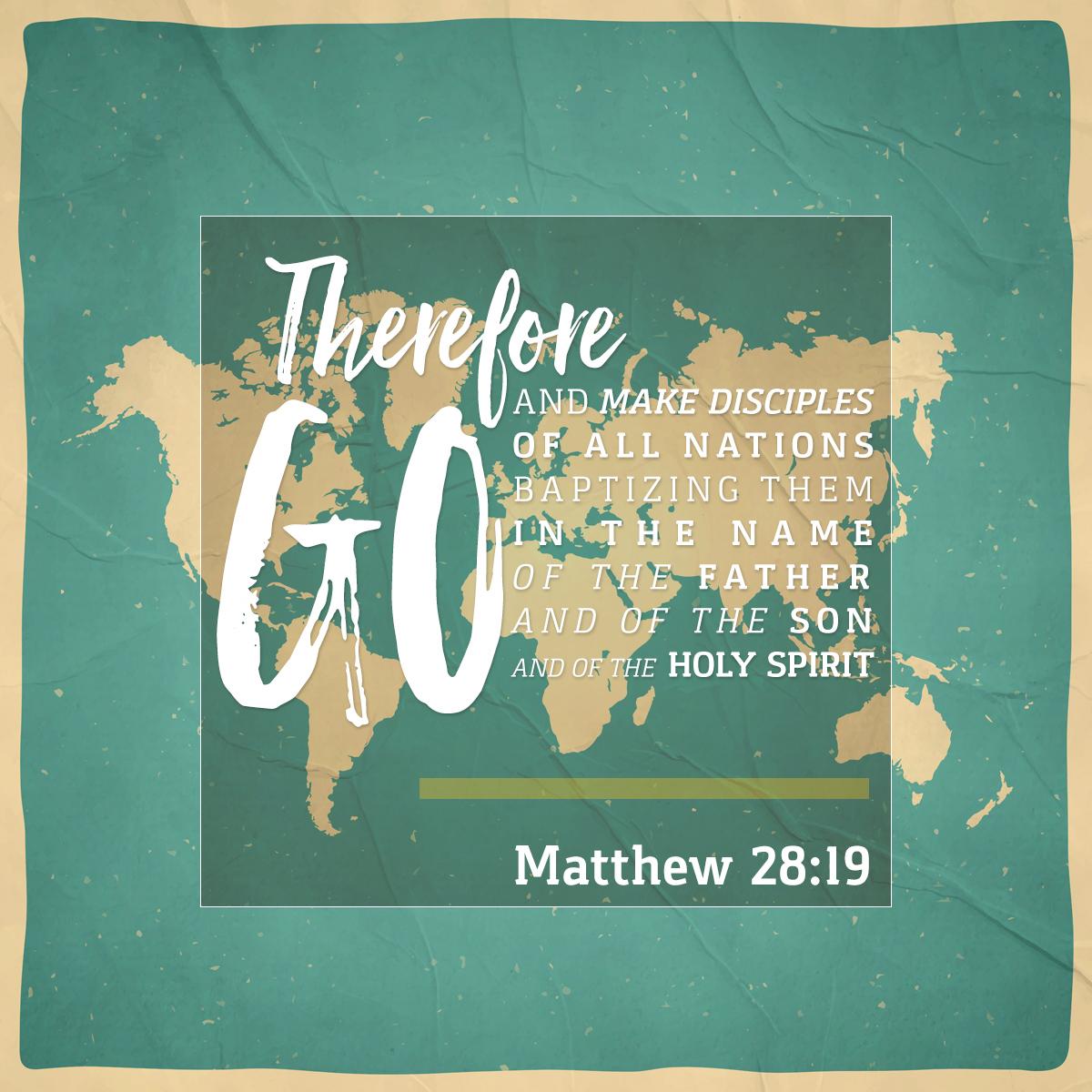 Matthew 28:19 - Daily Verse