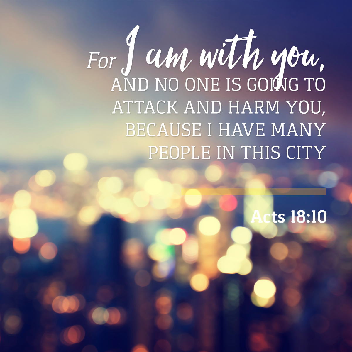 Acts 18:10 - Daily Verse