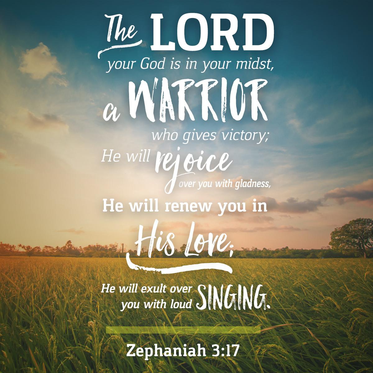 Zephaniah 3:17 - Daily Verse