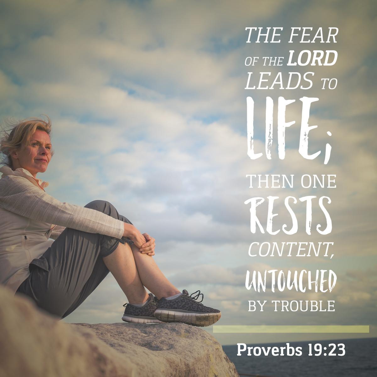 Proverbs 19:23 - Daily Verse