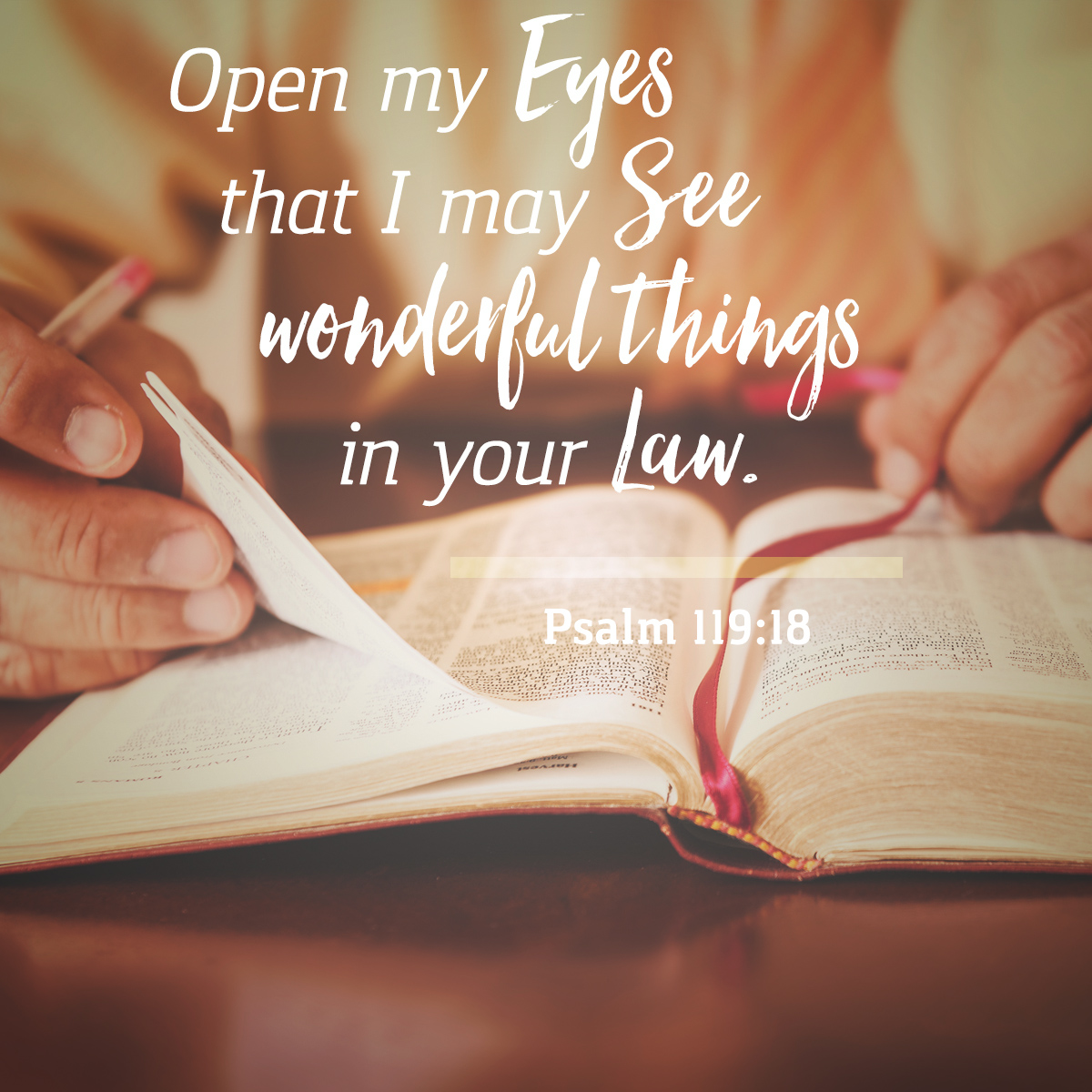 Psalm 119:18 - Daily Verse