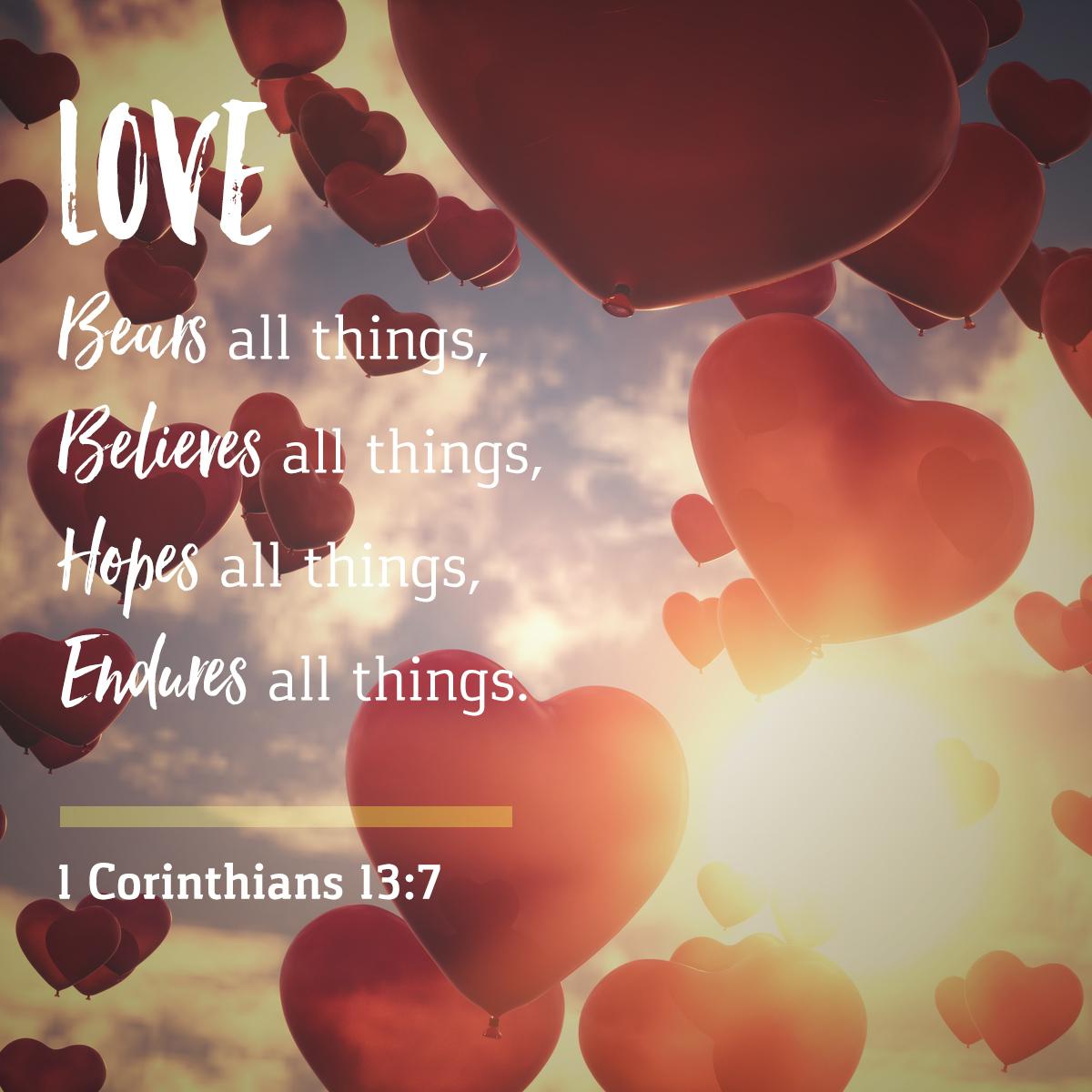 1 Corinthians 13:7