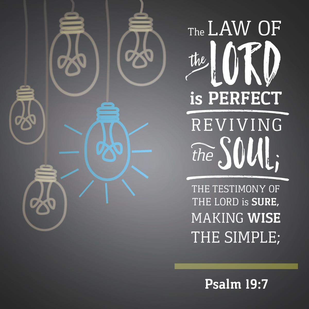 Psalm 19:7