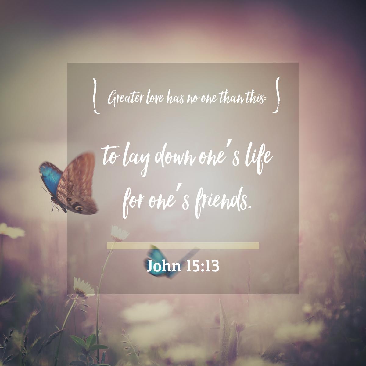 John 15:13 -