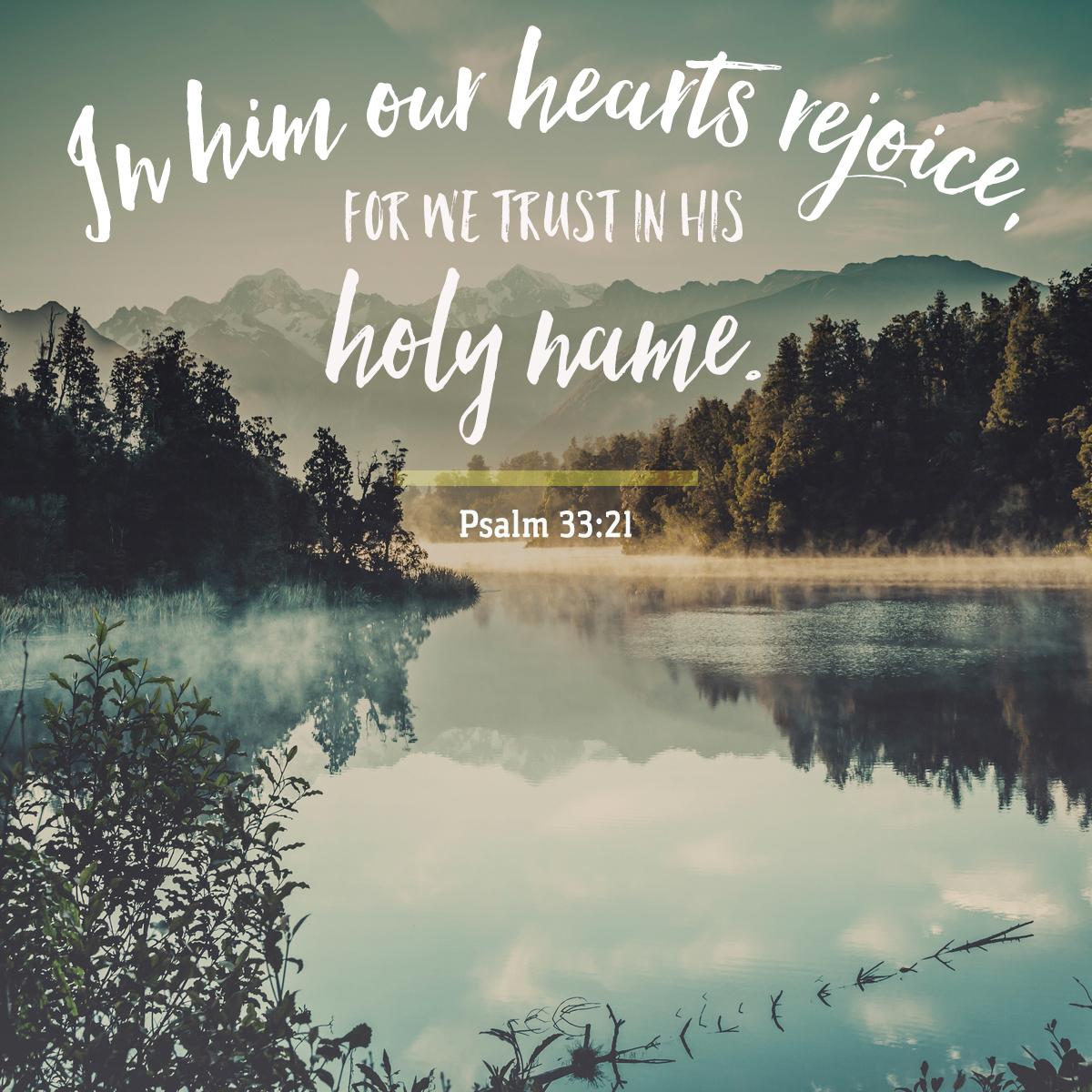 Psalm 33:21-