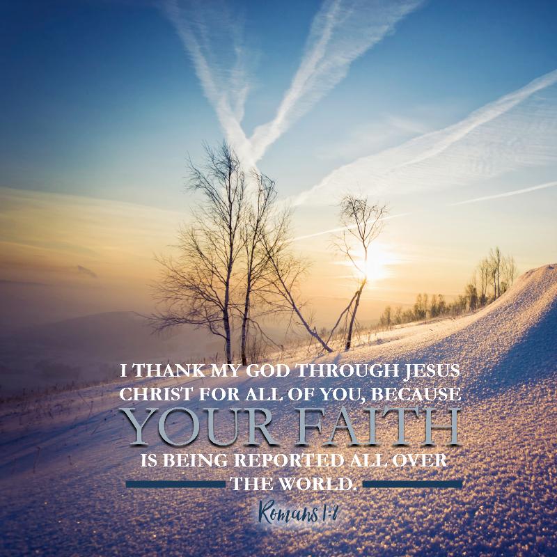 Romans 1:8 - Daily Verse