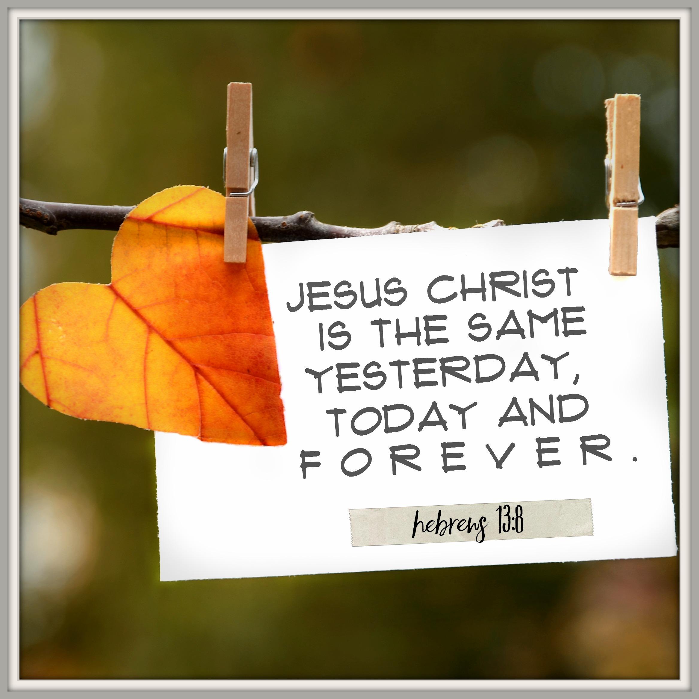 Daily Verse: Hebrews 13:8