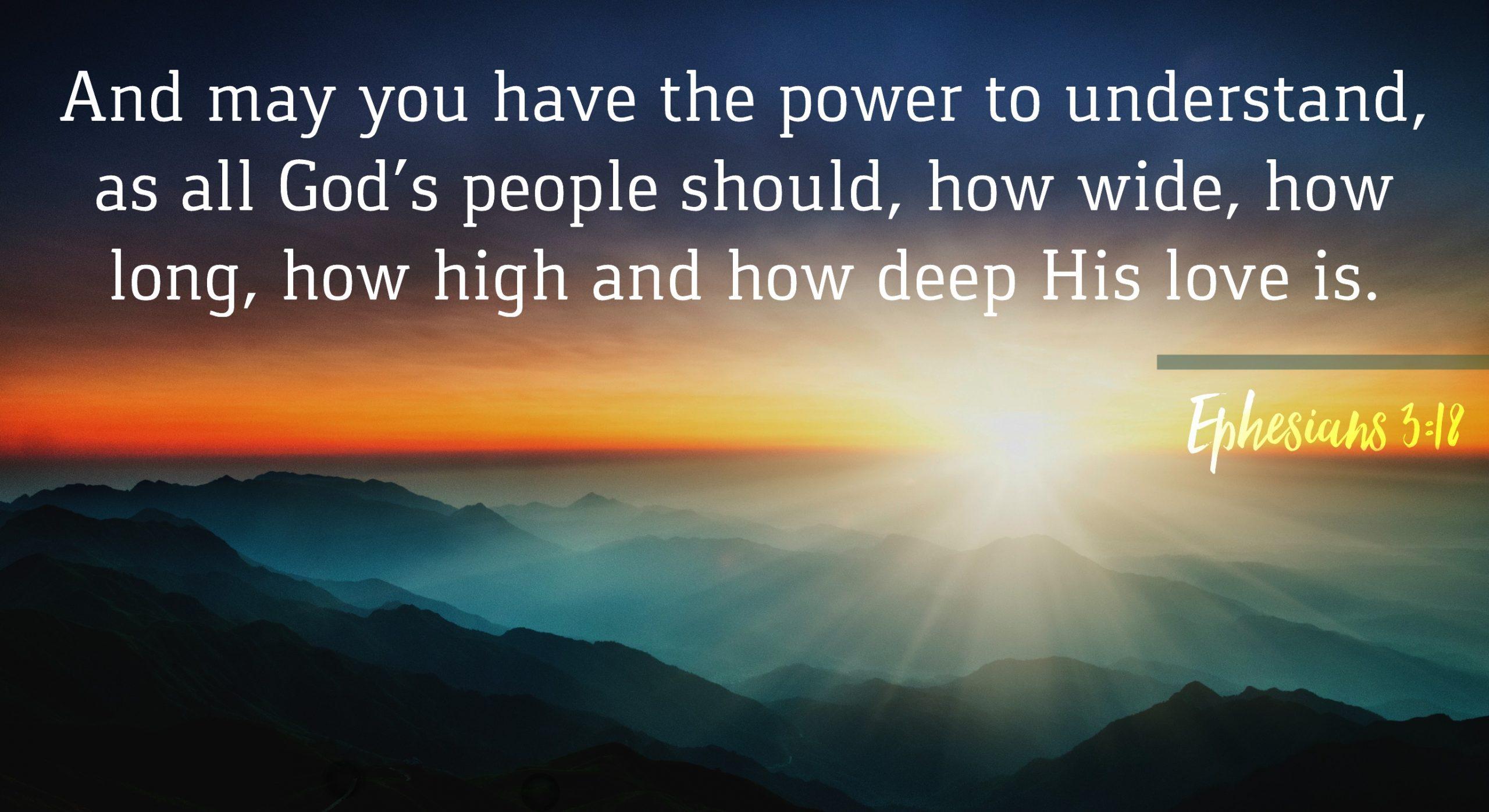 Ephesians 3:18