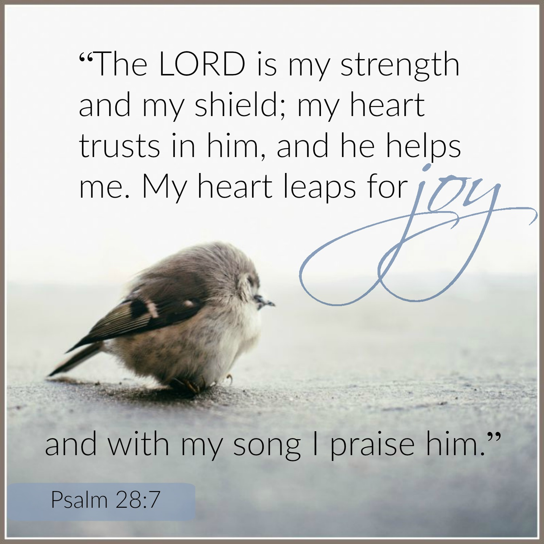 Psalm - 28:7