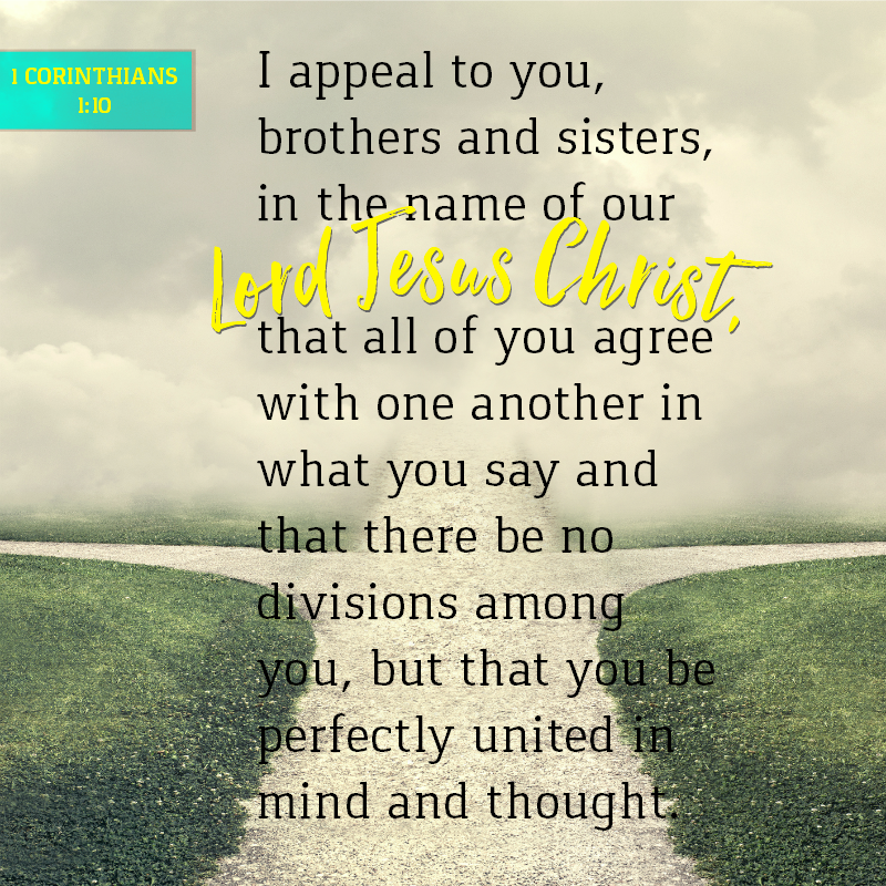 Daily Verse: 1 Corinthians 1:10