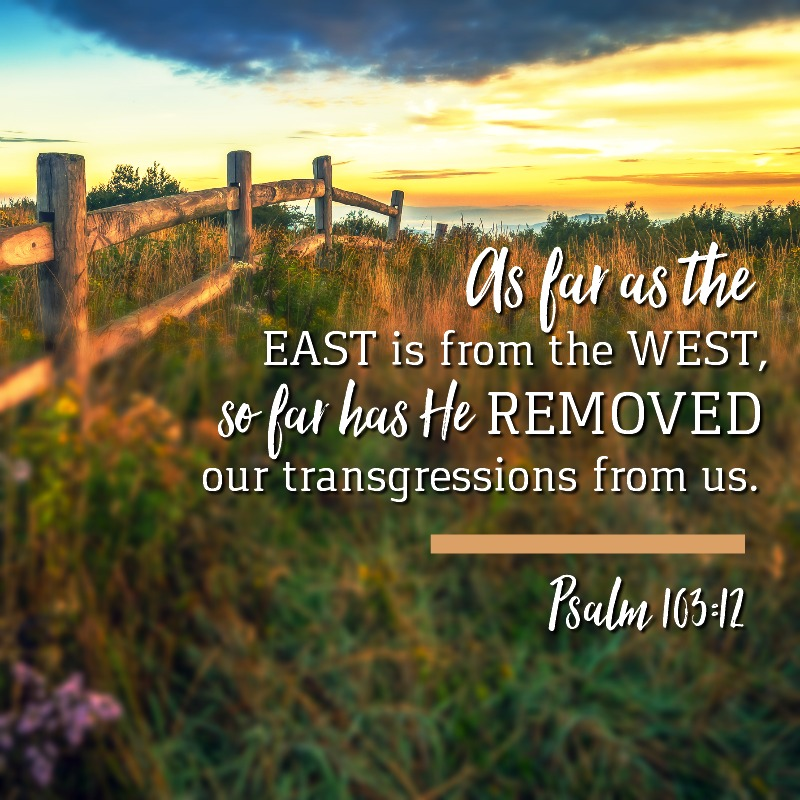 Daily Verse: Psalm 103:12