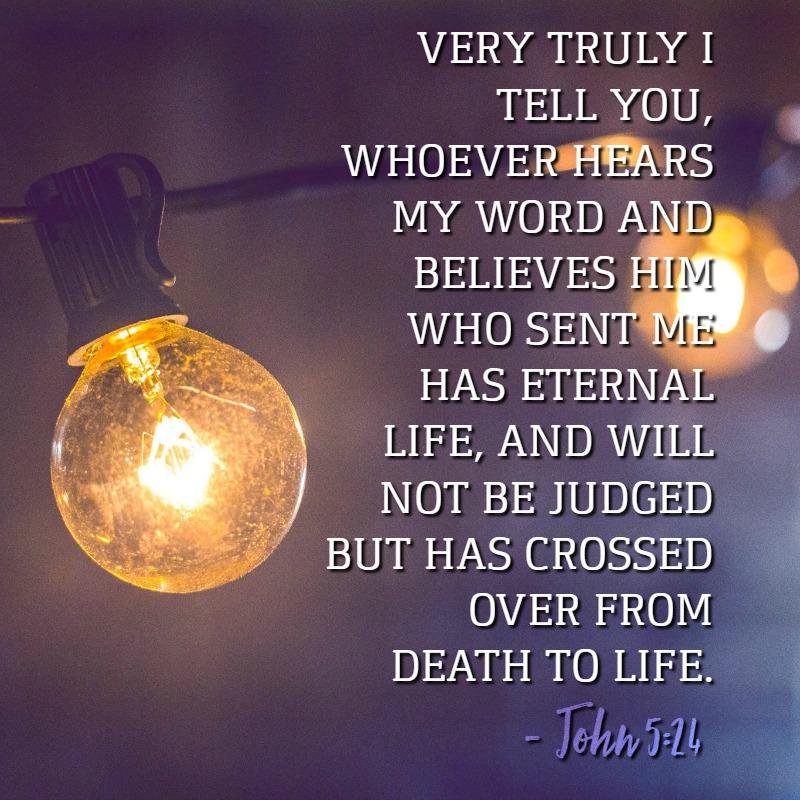 Daily Verse: John 5:24
