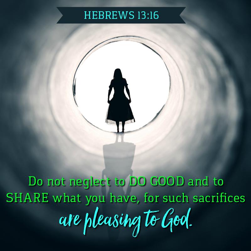 Daily Verse: Hebrews 13:16