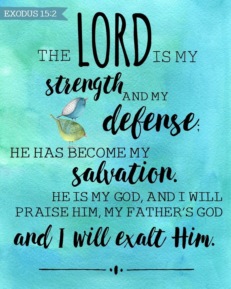 Daily Verse: Exodus 15:2
