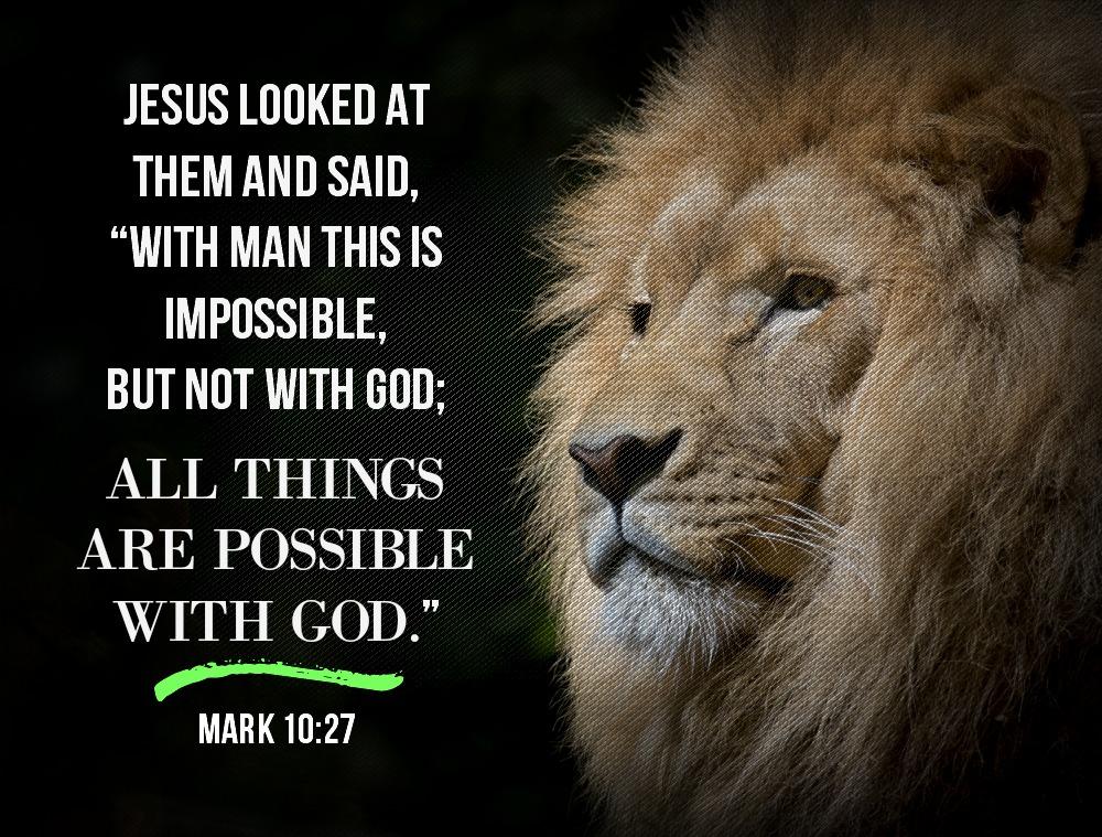 Daily Verse: Mark 10:27
