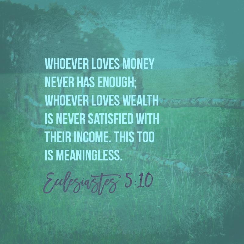 Daily Verse: Ecclesiastes 5:10