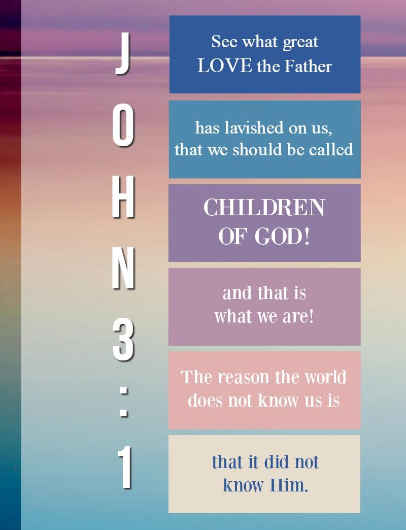 Daily Verse: 1 John 3:1