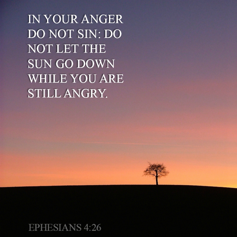 Daily Verse: Ephesians 4:26