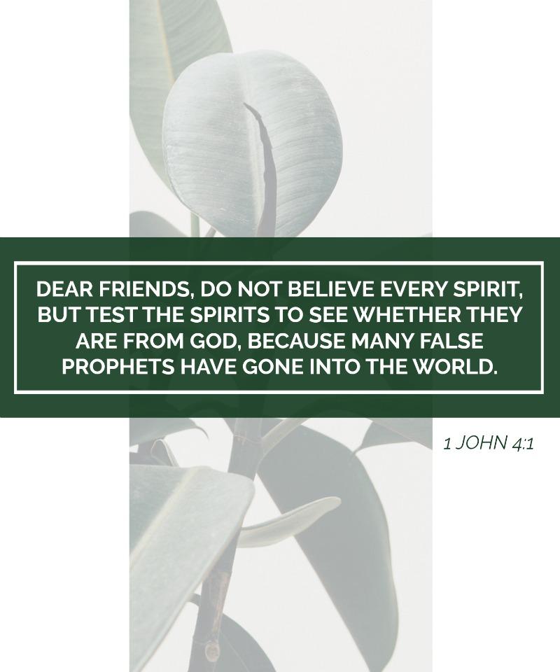 Daily Verse: 1 John 4:1