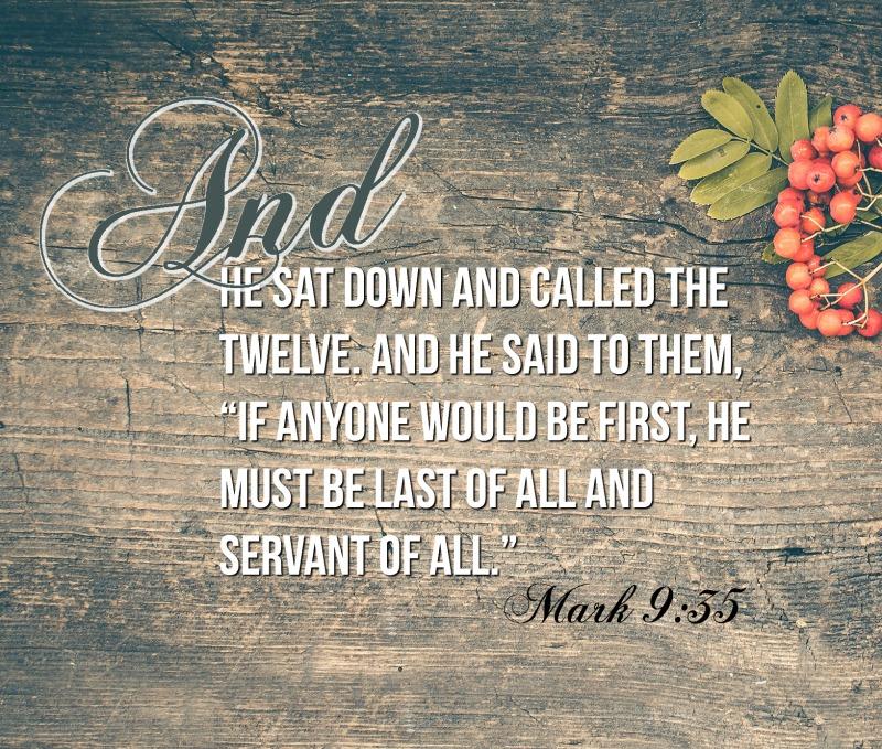 Daily Verse: Mark 9:35