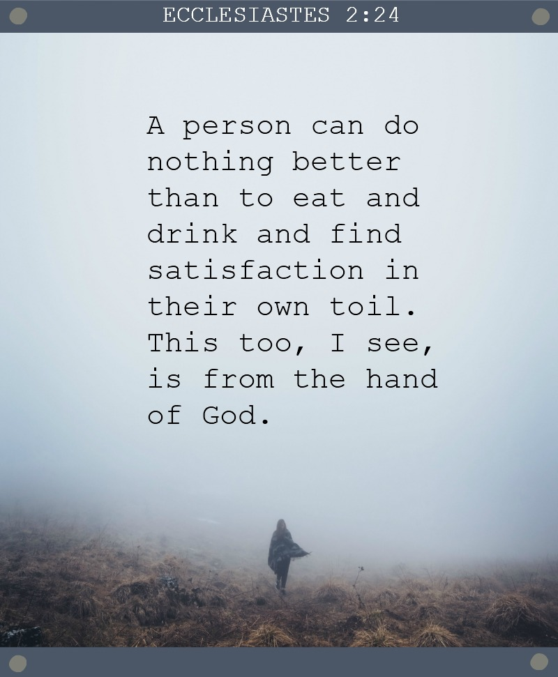 Daily Verse: Ecclesiastes 2:24