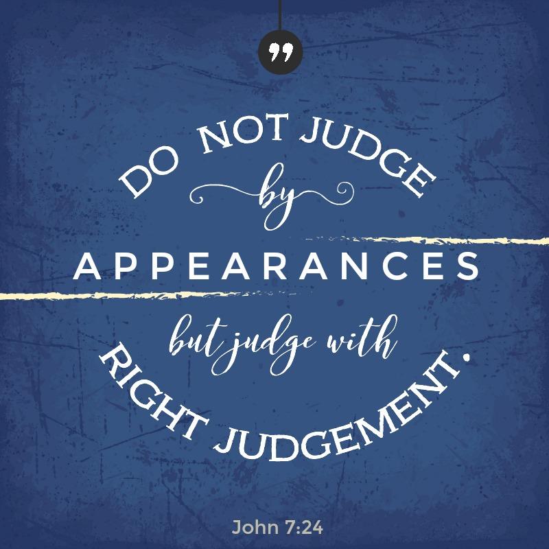 Daily Verse: John 7:24
